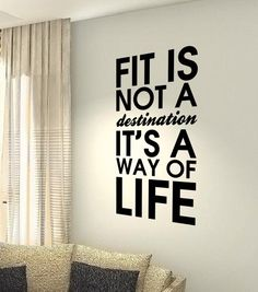 Fit it's a way of life... Fitness Gym by Stickersshopthree on Etsy