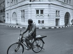 Street photography bicycle Old town Jakarta