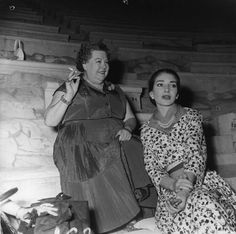 Elvira de Hidalgo & Maria Callas;Athens,1957