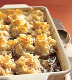 Chicken and Mushroom Pie with Phyllo-Parmesan Crust - Bon Appetit