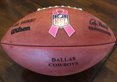 dallas cow  boys breast cancer awareness prototype game duke wilson  football new from  125.0 4fcbded620f7d