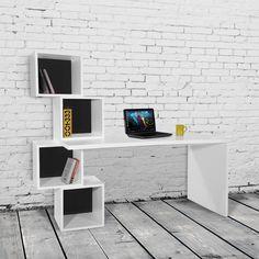 Picture showing Balanced Desk/Bookcase, Black