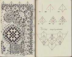 Life Imitates Doodles aka mollossus aka Sandra Syrait: New pattern Prow done for Rhodia Journal swap