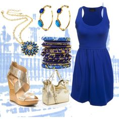 Cobalt Casual, created by tamaradrichardson on Polyvore