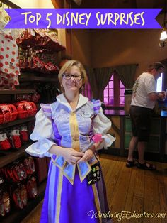 """Pay a visit to Castle Couture – For an extra magical experience, ask a cast member working there for some pixie dust. They'll come out with their magic wand, recite the magic words """"With just a little faith, trust, and pixie dust, may all your dreams come true,"""" and sprinkle you with glittering, magical po"""