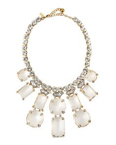 opening night statement necklace, clear by kate spade new york at Neiman Marcus.