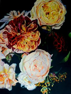 Heritage Roses - Oil on linen x Available September 2018 at Parnell Gallery Flower Show Heritage Rose, Rose Oil, Flower Show, Illustration Art, Art Floral, Gallery, Artist, Flowers, September