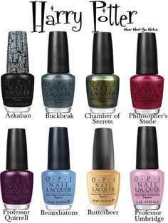 OPI nail polish colours inspired by the Harry Potter film franchise - Product info! **To see my original Harry Potter inspired nail polish colours click here and scroll.
