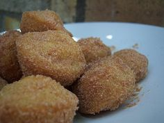 Mexican Honey Puffs ~ Soft, tender-centered, donut hole-like puffs with a crispy outer sopapilla-like crust.