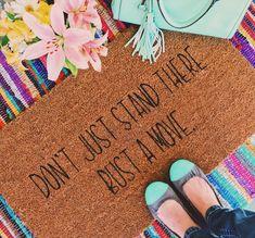 Bust A Move Funny Doormat Hip Hop Home Accessories door mat - # Home Decor Accessories, Decorative Accessories, Doormat Quotes, Bust A Move, Funny Doormats, Hip Hop, Front Door Decor, Front Porch, Diy Décoration