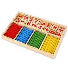 Montessori mathématique Intelligence bâton préscolaires Jouets éducatifs