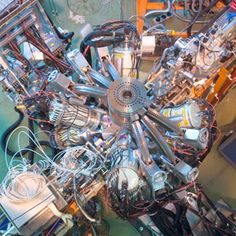 """Pear-Shaped Nucleus Boosts Search for Alternatives to """"Standard Model"""" Physics Using a γ-ray spectrometer (pictured), physicists have detected a bump in the shape of radium 224 nuclei."""