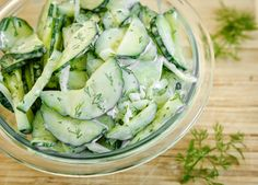 Simply Anchored: Cucumber and Dill Summer Salad