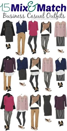 mix and match business casual outfits from Target
