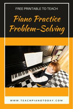 """A """"stuck"""" piano student means a week without any practice. Use this printable to help them work through home piano practice troubles!"""