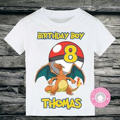POKEMON Charizard Pokeball Customized Birthday by MyBirthdayWishes