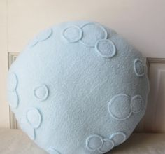 Full Moon Pillow Moon Plush 12 pillow round by WildRabbitsBurrow, $18.00