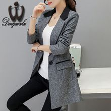 US $27.54 Small suit Jacket female 2017 Spring autumn Slim long style Women blazers Casual fashion Plus size Coat outerwear. Aliexpress product