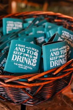 Love this coozies. Adore these customized drink coozies — the perfect wedding favor! Summer Wedding Favors, Wedding Favors For Guests, Fall Wedding, Our Wedding, Dream Wedding, Wedding Stuff, Trendy Wedding, Wedding Bells, Wedding Gifts