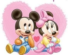 Mickey Mouse and Minnie Mouse - Mickey and Minnie Photo - Fanpop Baby Mickey Mouse, Mickey Mouse Kunst, Minnie Mouse Cartoons, Mickey Mouse Pictures, Minnie Mouse Pictures, Mickey Mouse And Friends, Disney Cartoons, Disney Babys, Cute Disney