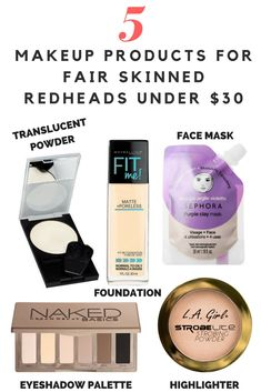 5 Makeup Products For Fair Skinned Redheads Under $30