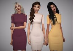 Aveline Sims: Robyn Dress • Sims 4 Downloads