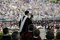 Mitt Romney delivered the commencement address at Liberty University in Lynchburg, Virginia.