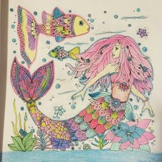 The Enchanted Journey Coloring Book Mermaid Underwater World Love This To