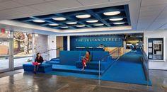 Julian Street Library, Princeton University, NJ. Interesting seating.