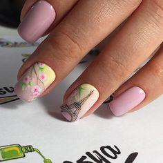 Доброе , французское утро 🌸😋 для нашего стилиста @tatibashkirova Orange Nail Designs, Simple Nail Art Designs, Short Nail Designs, Bling Nails, Diy Nails, Cute Nails, Pretty Nails, Summer Holiday Nails, French Tip Gel Nails