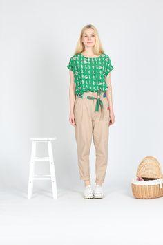 TYAKASHA塔卡沙2013春夏旅行系列:数码印花系列亚麻棉长裤-淘宝网