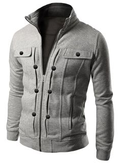 Essential Solid Moto Jacket for Man