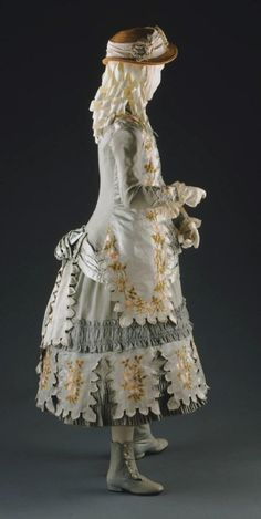 ab. 1883 Girl's Dress: Bodice and Skirt (Artist/maker unknown, American)