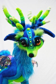 Made to order ooak needle felted wolf dragon by TangleWoodThicket, $245.00 For Ava