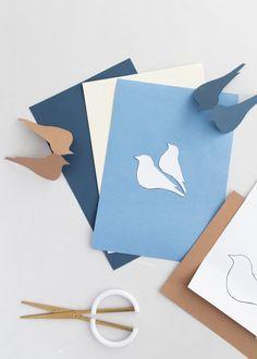 DIY Deko-Idee für den Frühling : Vögel aus Papier selber machen – Sinnenrausch - Der kreative DIY Blog für Wohnsinnige und Selbermacher