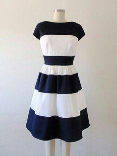 0d8d0dd45 Blue/whire Roztomilé Šaty, Roztomilé Oblečenie, Letné Šaty, Šijeme Módu,  Vintage