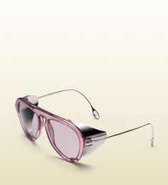 optyl aviator sunglasses with metal blinkers