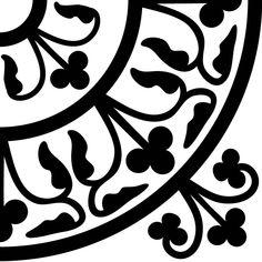 Tile Pattern #51 Reusable 10MIL Laser-Cut Stencil for Tile or Coaster by PearlDesignStudio on Etsy