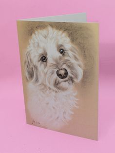 Cockapoo Art Card Dog Greetings Card Cockerpoo by AmandaDrageArt