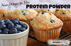 16 New Ways to Use Protein Powder These muffins have 10 grams of protein--and less than a teaspoon of sugar and oil--in each one.