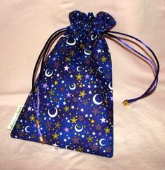 Purple Moon - A cozy for your Tarot Cards - or just a cute pouch to keep all your *possibles*, totems and such.