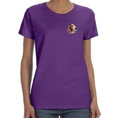Welsh Springer Spaniel Embroidered Ladies T-Shirts