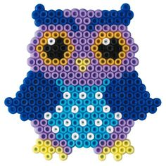 Hama owl. Part of a owl mobile.  Google Bilder-resultat for http://onkelcarsten.dk/533-1303-thickbox/ugler-hama-mini-perler.jpg