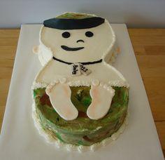 Baby Shower Cake--Military Brat by Windy City Cakery
