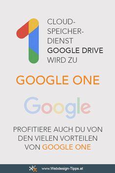 Cloud-Speicher-Dienst Google Drive wird zu Google One #google #googleone #googledrive #cloud Web Design, Stress, Google Drive, Home Office, Website, Workplace, Tips And Tricks, Ideas, Design Web
