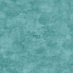 138908 papier peint intissé Haute Définition uni aspect béton peint à l'aquarelle turquoise
