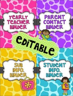 EDITABLE Teacher Binder for Organization (Including Substitute Packet) - Little Lovely Leaders - TeachersPayTeachers.com