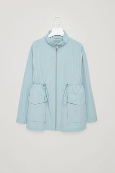 COS image 6 of Jacket with drawstring waist in Aqua