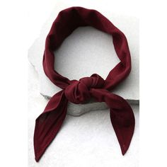 Vanessa Mooney Honor Burgundy Bandana ($18) ❤ liked on Polyvore featuring accessories, red, long bandana, vintage handkerchiefs, red handkerchief, burgundy bandana and vintage bandana