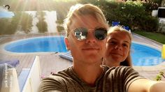 Jack Maynard and his little sister Anna in Portugal with the family
